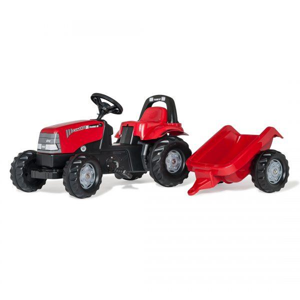 Tractor de Pedales rollyKid Case 1170 CVX con remolque