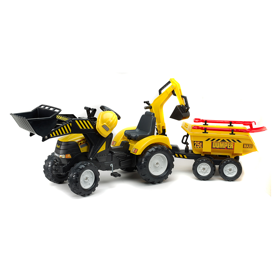 Tractor de pedales Power Loader con pala