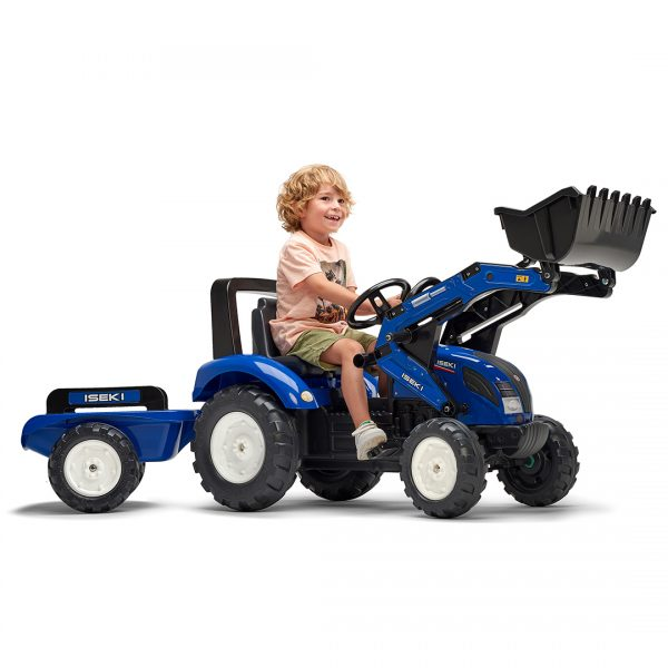 Tractor de pedales Iseki TG6625 con pala y remolque