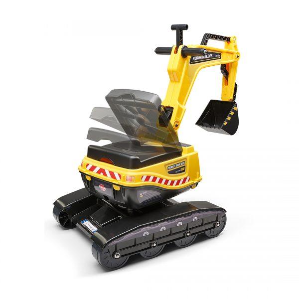 Excavadora de Juguete Power Builder con asiento abatible