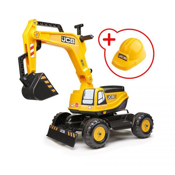 Excavadora de Juguete JCB con asiento abatible y casco