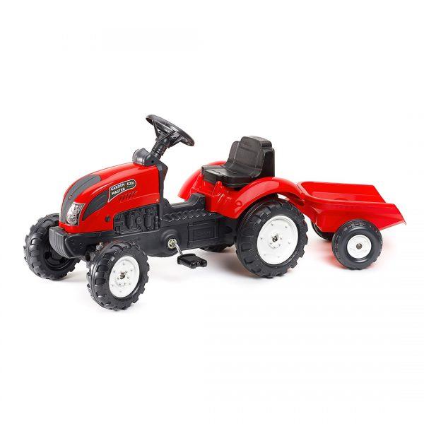 Tractor de pedales Garden Master Rojo con remolque