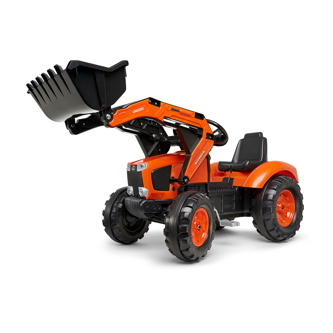 Tractor de pedales Kubota M135GX con pala