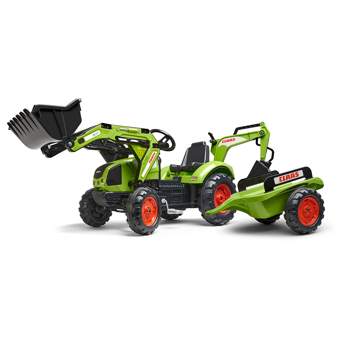 Tractor de pedales Claas Arion 430 con pala