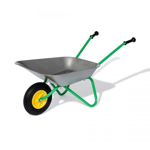 Carretilla Metálica con rueda neumática