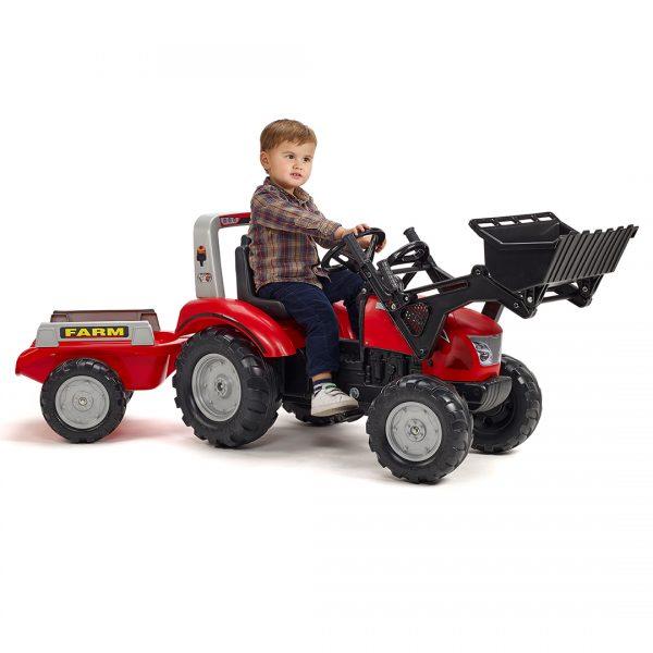 Tractor de pedales Mc Cormick X.7 con pala y remolque