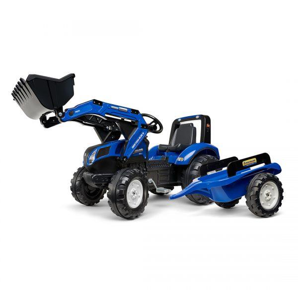 Tractor de pedales New Holland T8 con remolque y pala