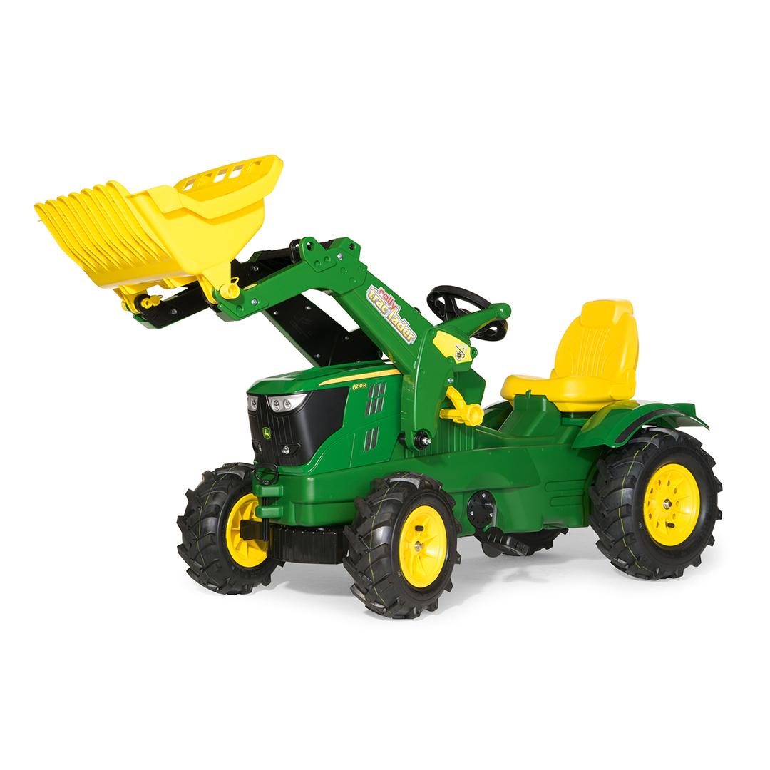 Tractor de Pedales rollyFarmtrac John Deere 6210R con pala y ruedas neumáticas