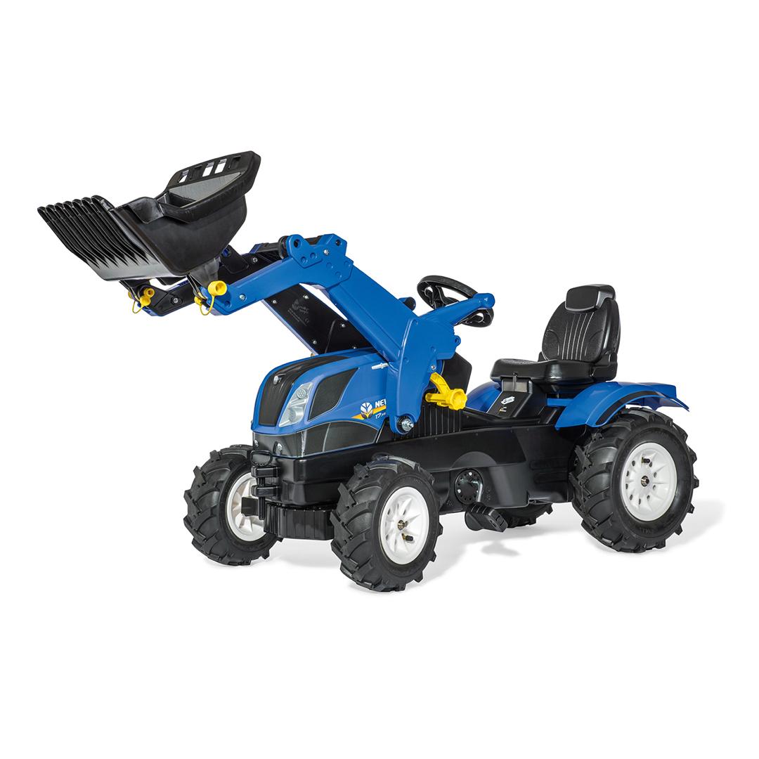 Tractor de Pedales rollyFarmtrac New Holland con pala y ruedas neumaticas