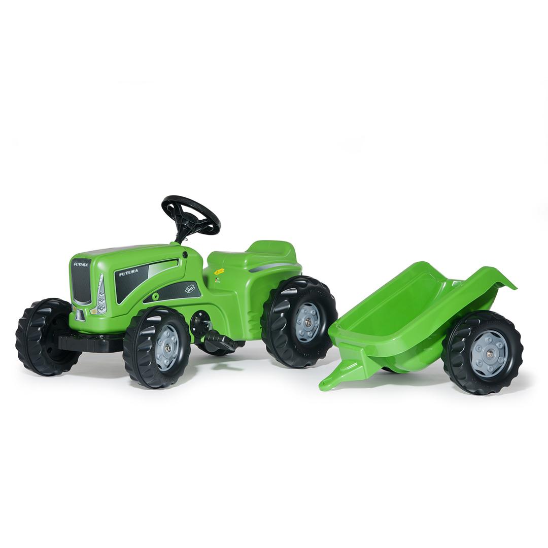 Tractor de Pedales rollyKiddy Futura con remolque