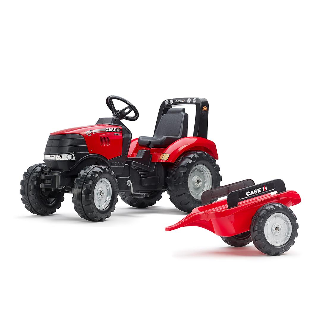 Tractor de pedales Case IH Puma 240CVX con remolque