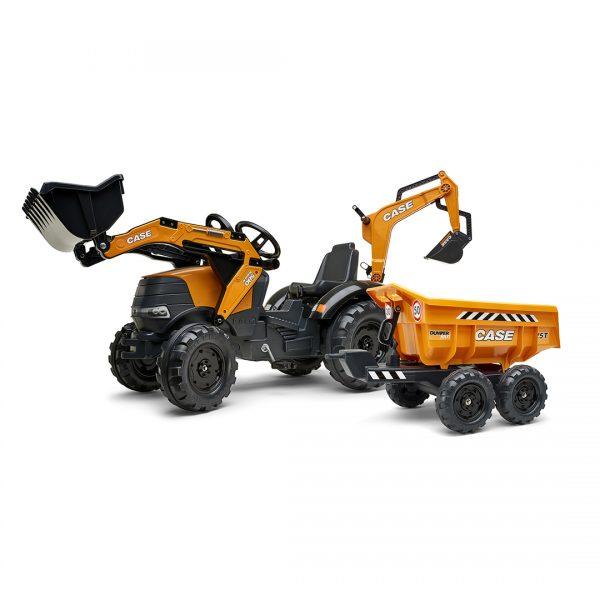 Tractor de pedales Case CE 580 Super N con pala