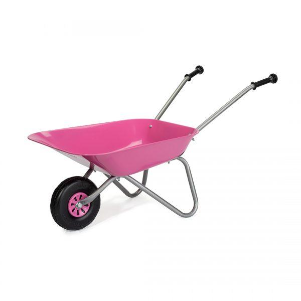 Carretilla Metalica Rosa para niños Rollytoys